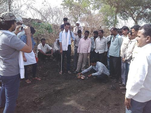 Stream eco-restoration inaugration at Bhivari village.