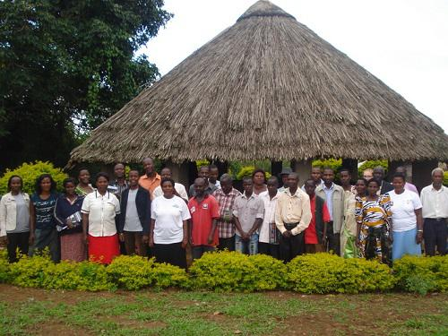 Resource User Group, MWETA, pose for a photo after a consultation.