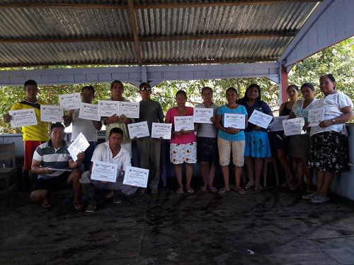 Group with diploma in tourism in Vista Alegre.