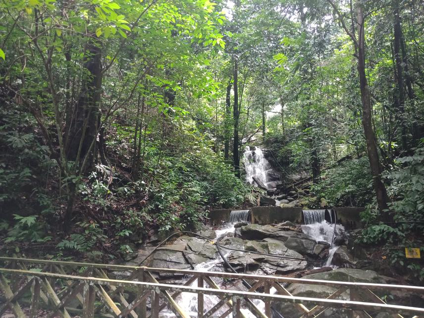 This picture shows a waterfall that is situated in Kawang Forest Reserve. This waterfall serves as a clean water source for the surrounding communities. This picture is taken using my own phone at 4th September, 2020.