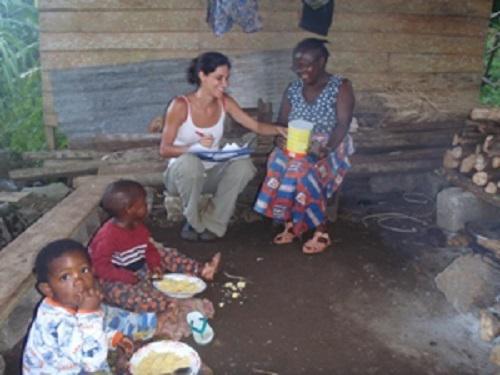 Interviewing Estefanía Lopeo in Basacato village.