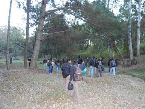 Mistnetting practice at T.U. Coronation garden forest.