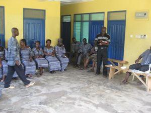 Consultative meeting with ' Nyame na Aye group'.