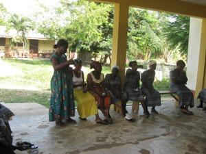 Focus group discussion with a local group at Abono.