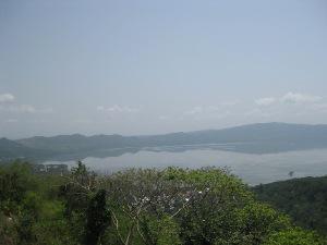 Lake Bosomtwi basin showing Abono community.